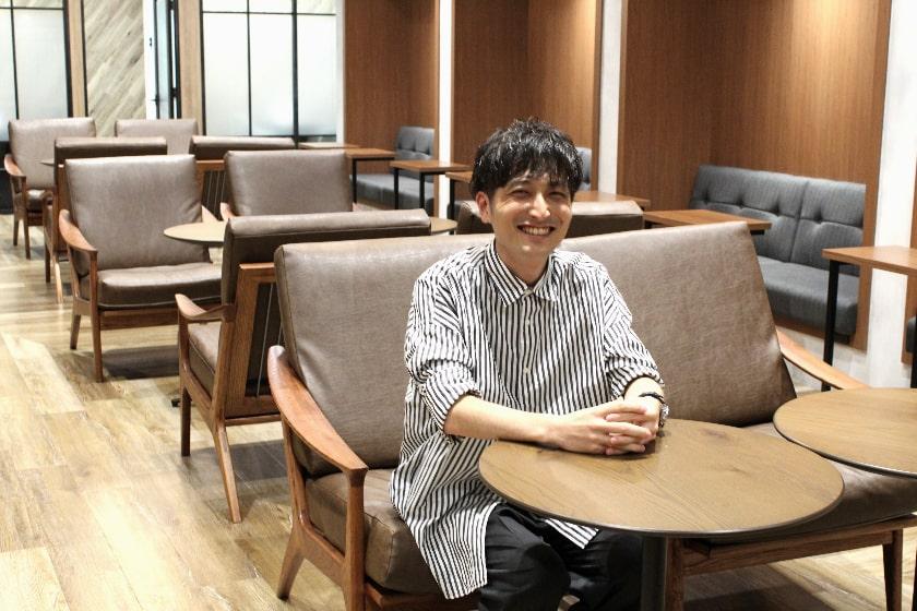 インタビューの写真