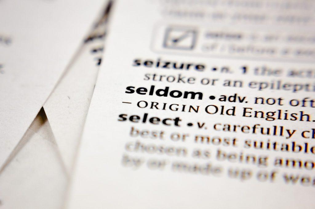 頻度を表す英語「seldom」